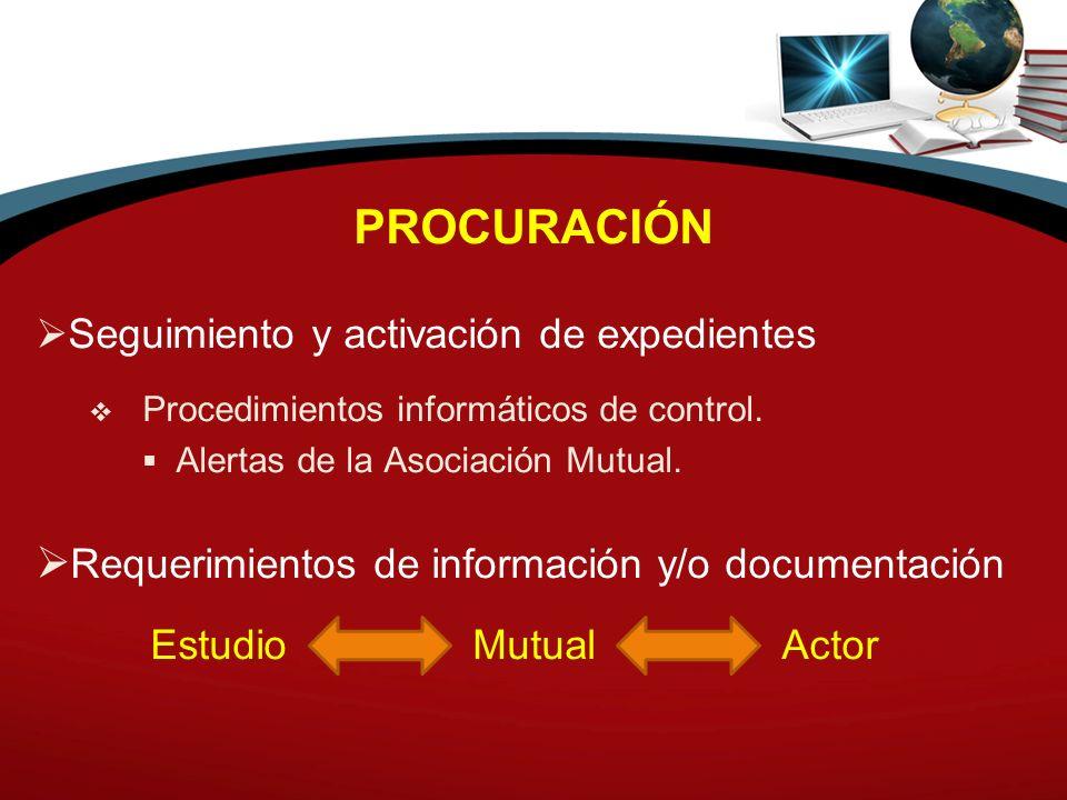 PROCURACIÓN Requerimientos de información y/o documentación