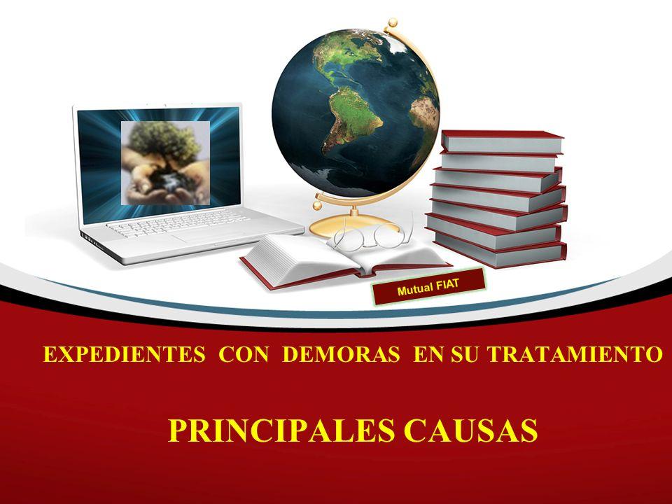 EXPEDIENTES CON DEMORAS EN SU TRATAMIENTO PRINCIPALES CAUSAS