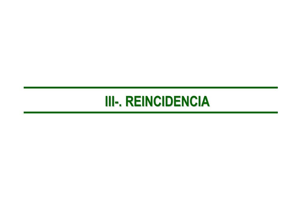 III-. REINCIDENCIA