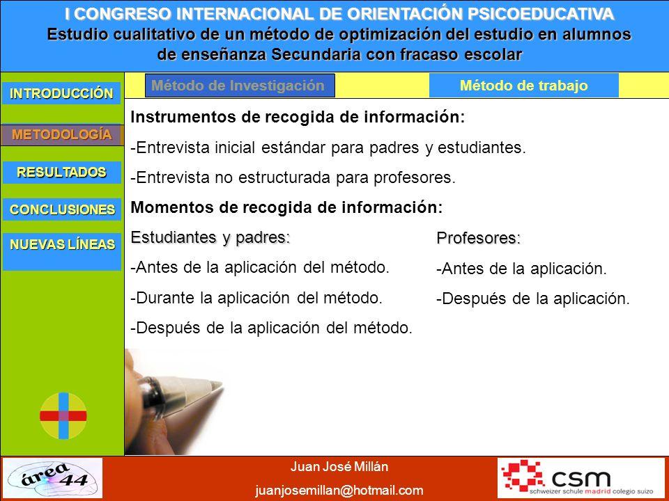Instrumentos de recogida de información: