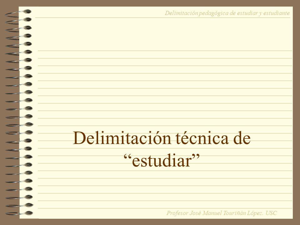Delimitación técnica de estudiar