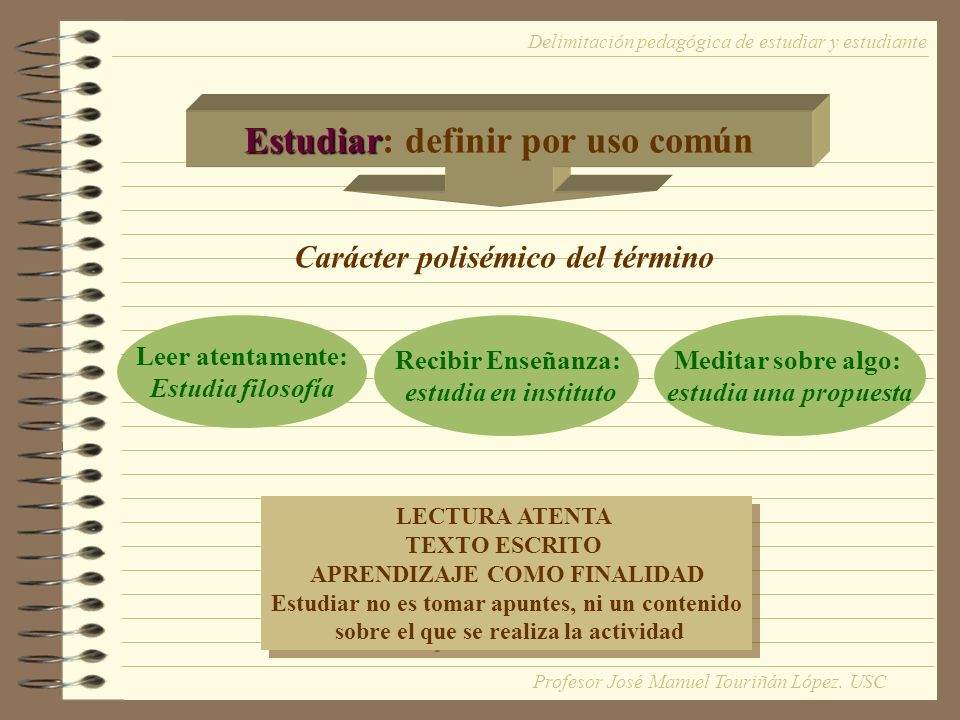Estudiar: definir por uso común