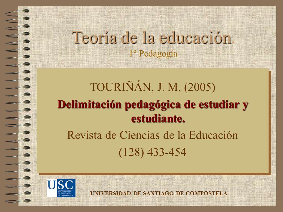 Delimitación pedagógica de estudiar y estudiante.