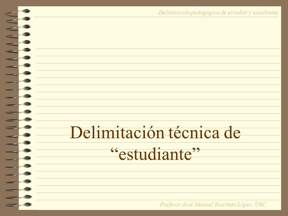 Delimitación técnica de estudiante