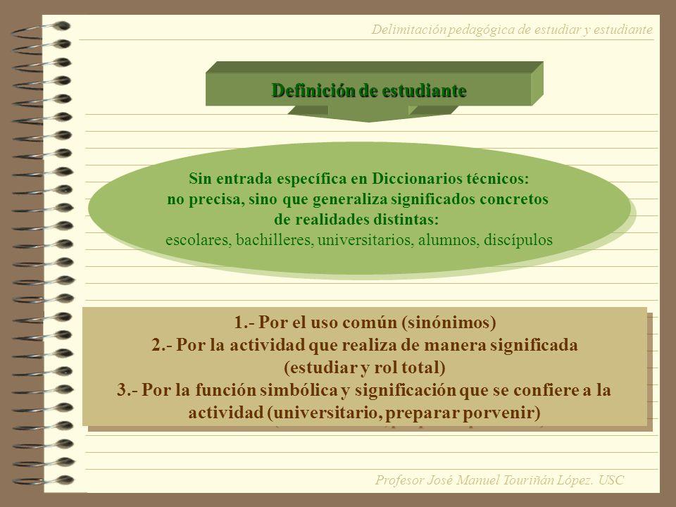 Definición de estudiante