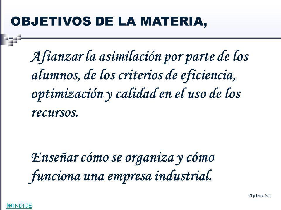 Enseñar cómo se organiza y cómo funciona una empresa industrial.