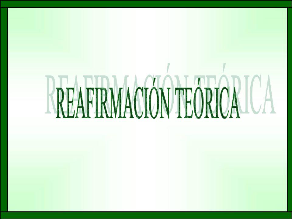 REAFIRMACIÓN TEÓRICA