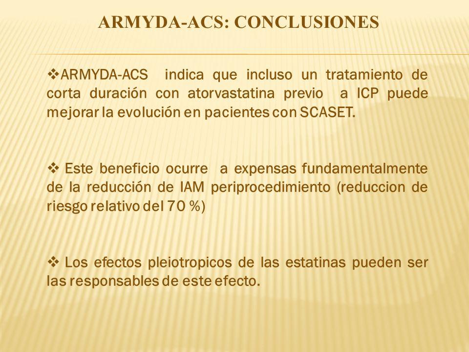 ARMYDA-ACS: CONCLUSIONES