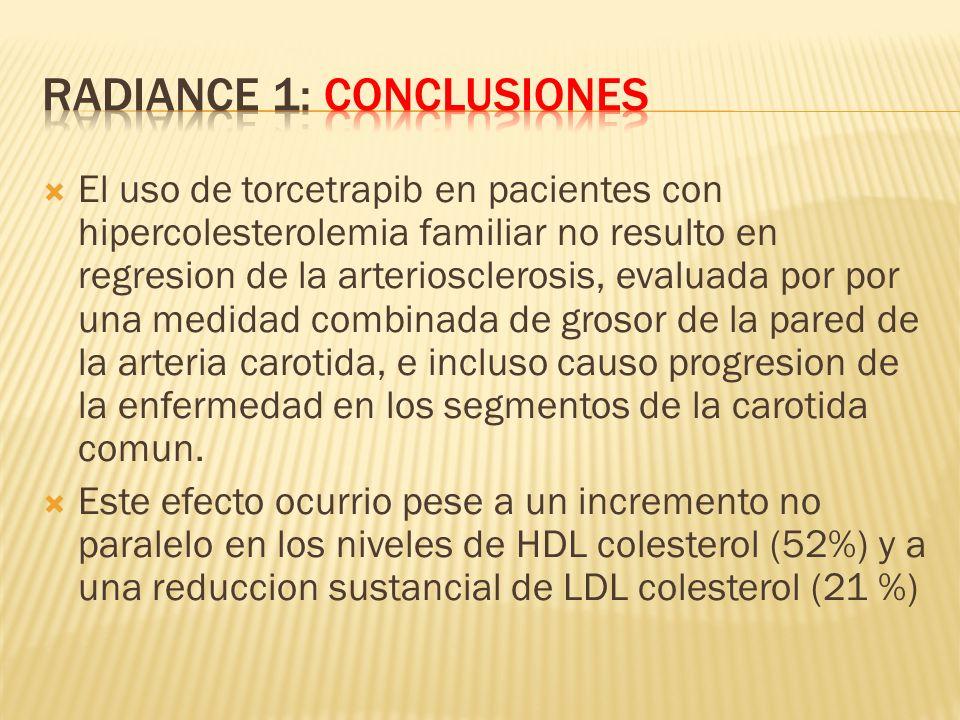 RADIANCE 1: Conclusiones