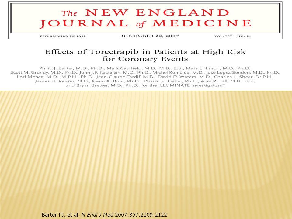 Barter PJ, et al. N Engl J Med 2007;357:2109-2122