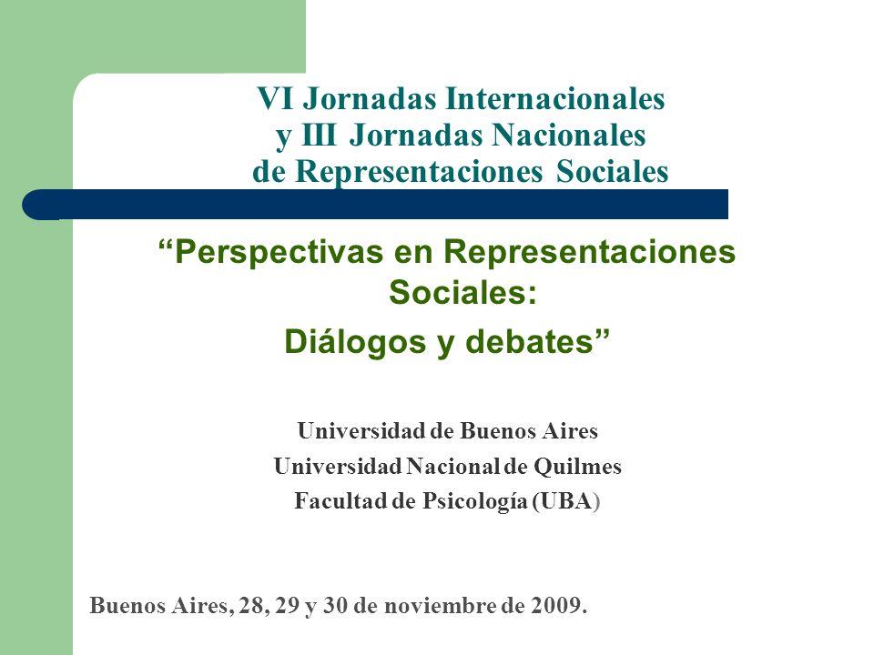 Perspectivas en Representaciones Sociales: Diálogos y debates