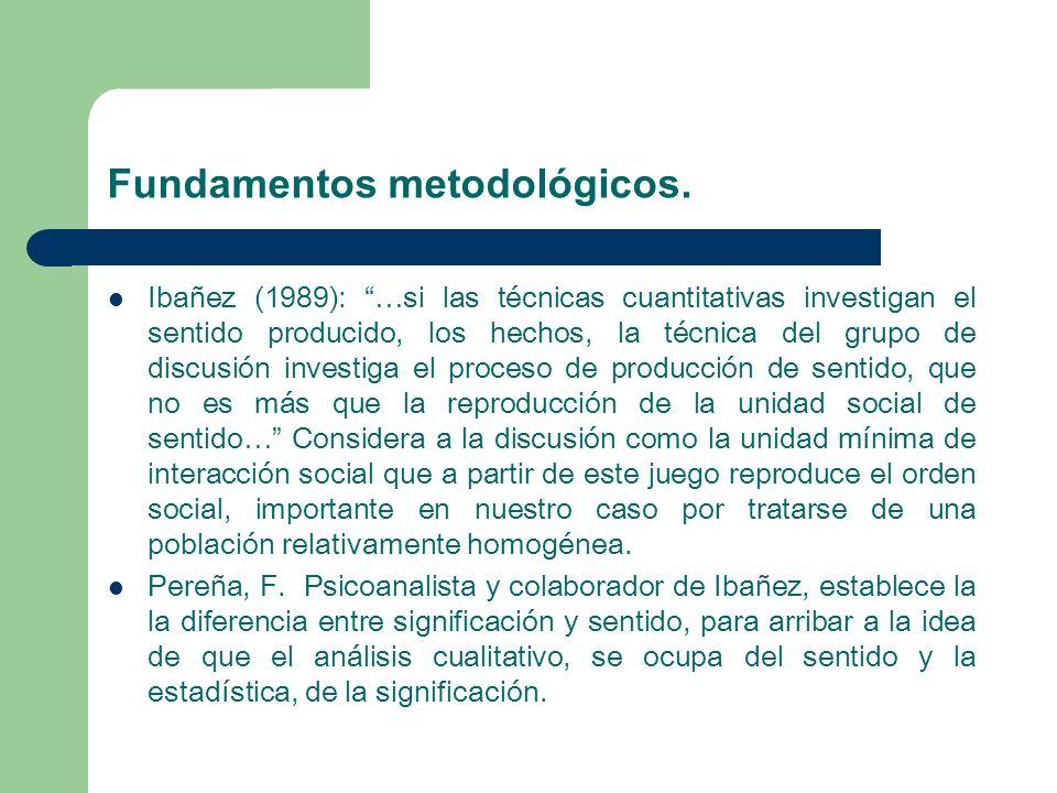 Fundamentos metodológicos.