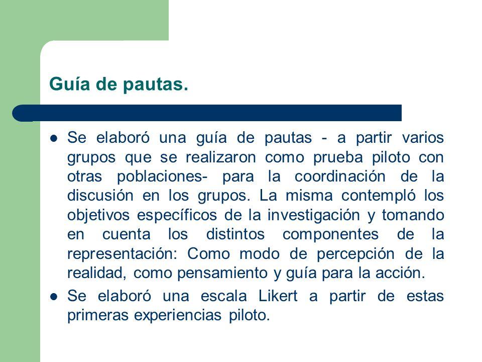 Guía de pautas.