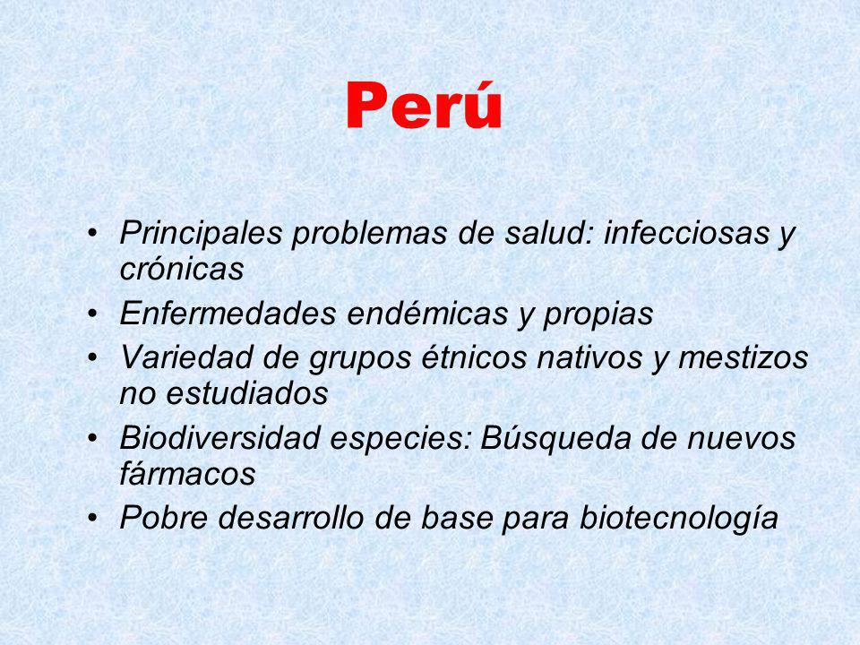 Perú Principales problemas de salud: infecciosas y crónicas