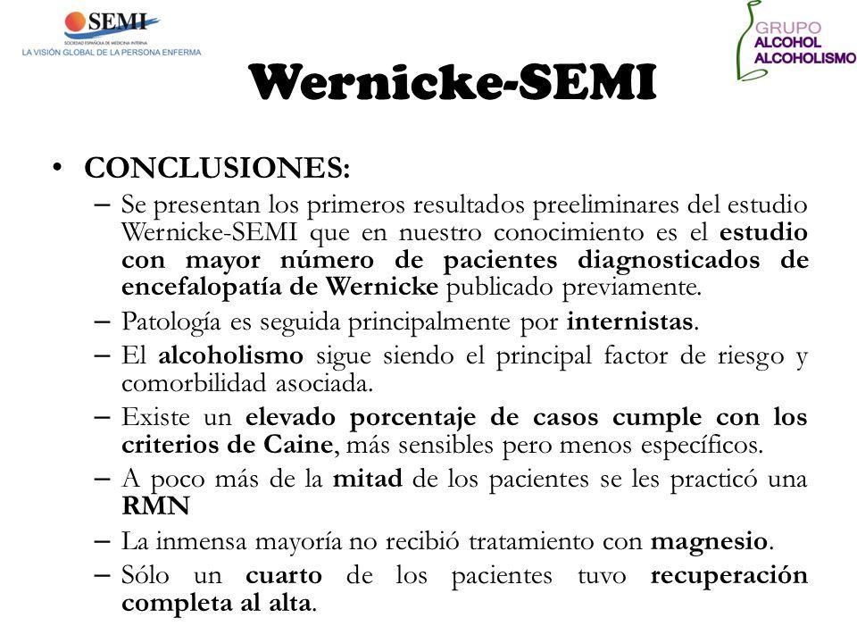 Wernicke-SEMI CONCLUSIONES: