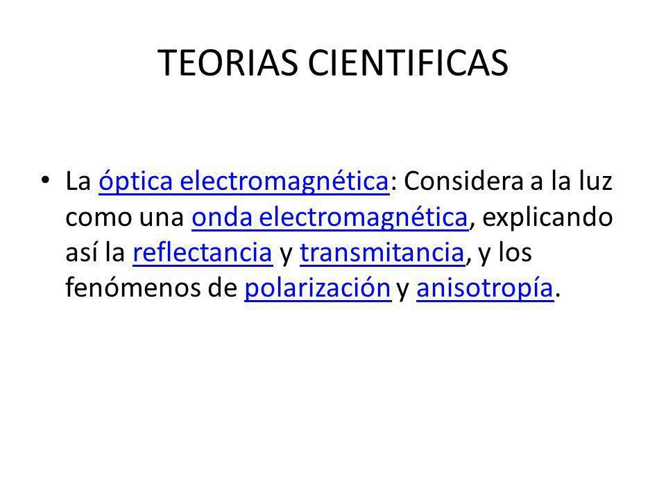 TEORIAS CIENTIFICAS