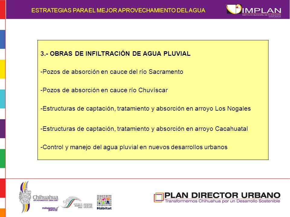 3.- OBRAS DE INFILTRACIÓN DE AGUA PLUVIAL