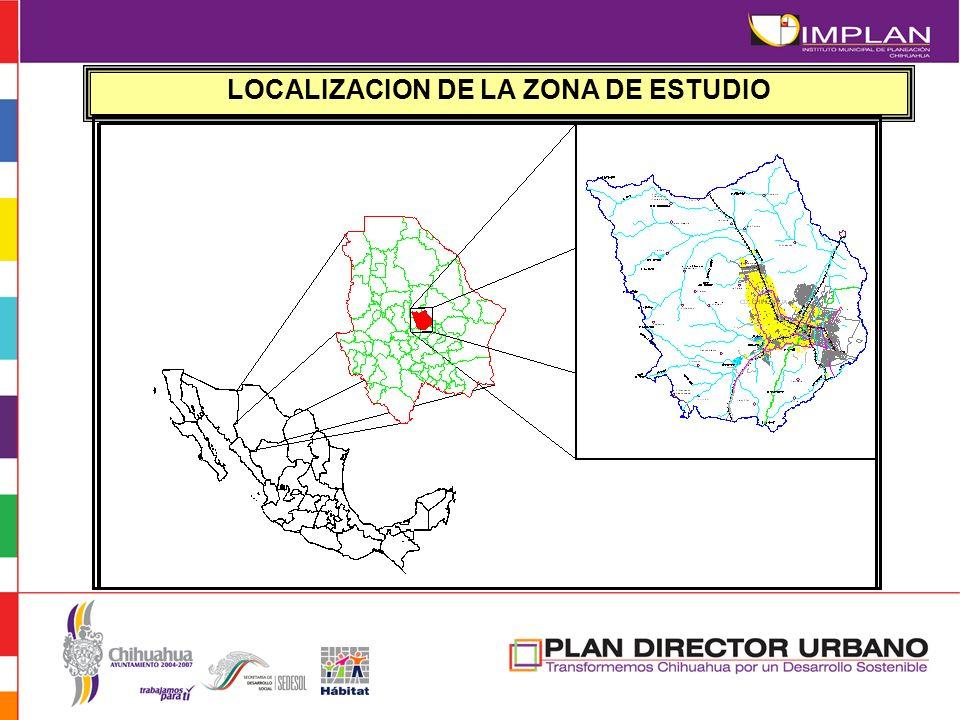 LOCALIZACION DE LA ZONA DE ESTUDIO