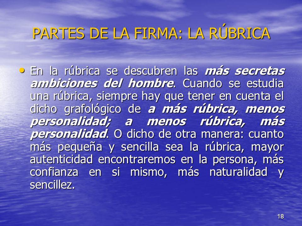 PARTES DE LA FIRMA: LA RÚBRICA