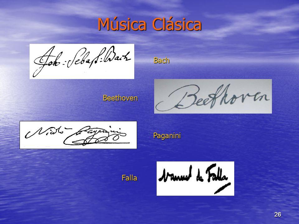 Música Clásica Bach Beethoven Paganini Falla
