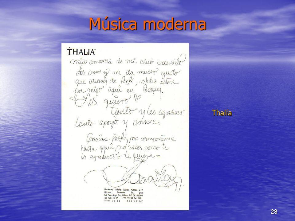Música moderna Thalía