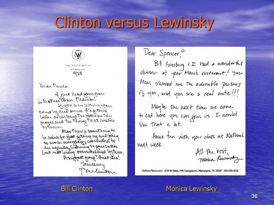 Clinton versus Lewinsky