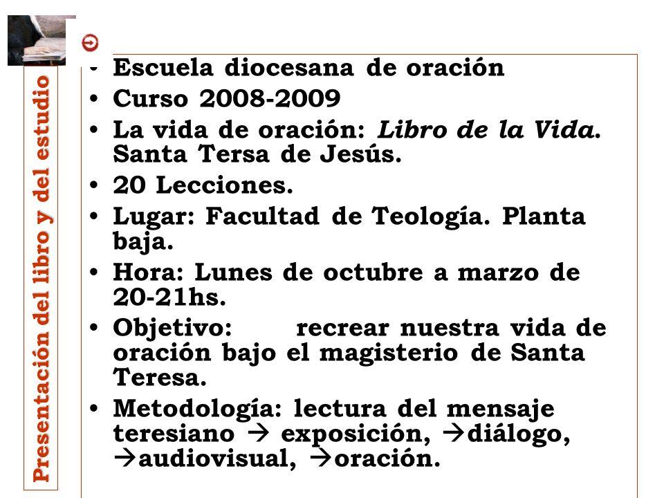 Escuela diocesana de oración Curso 2008-2009
