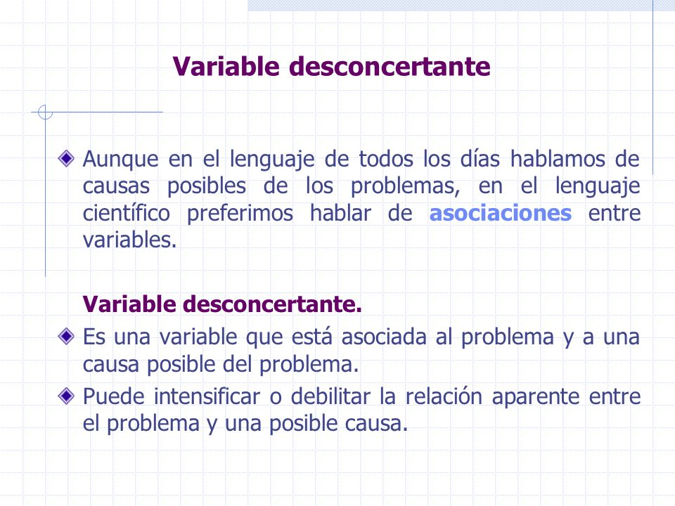 Variable desconcertante