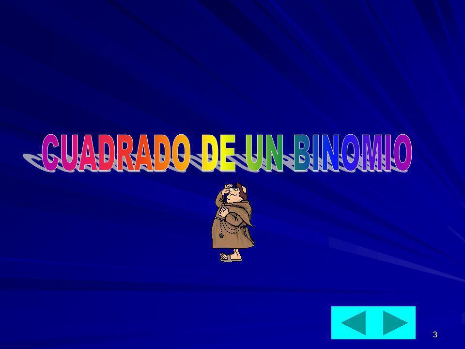 CUADRADO DE UN BINOMIO
