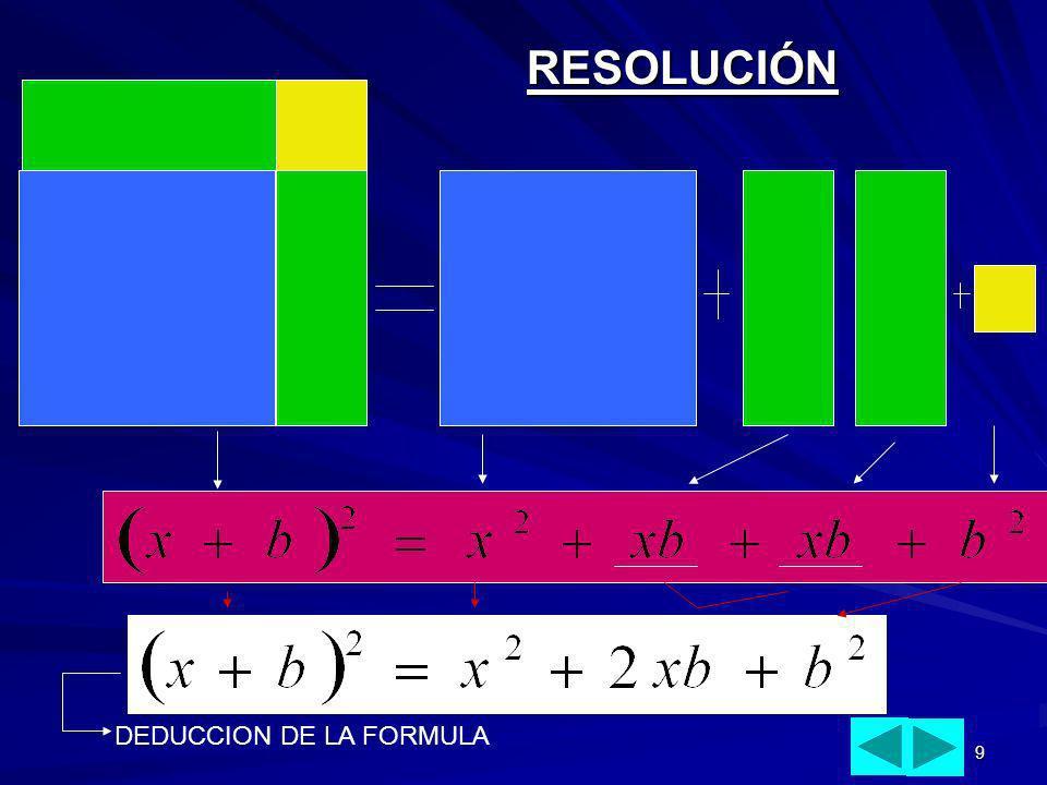 RESOLUCIÓN DEDUCCION DE LA FORMULA