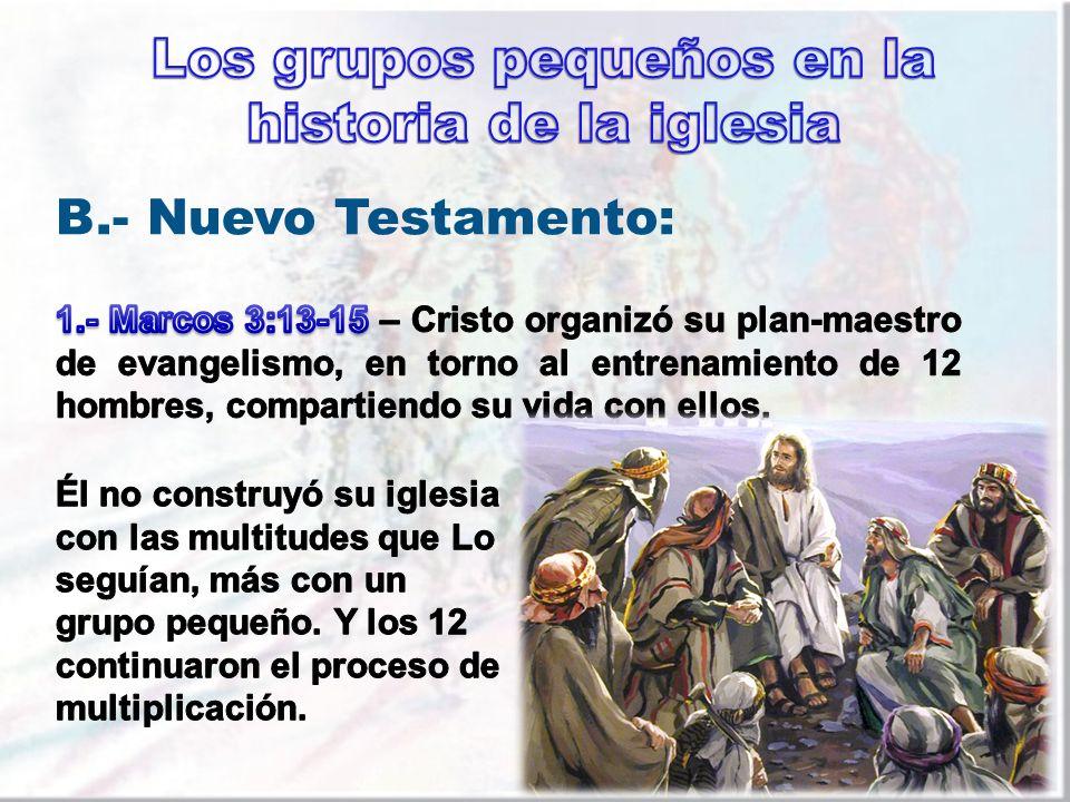 Los grupos pequeños en la historia de la iglesia