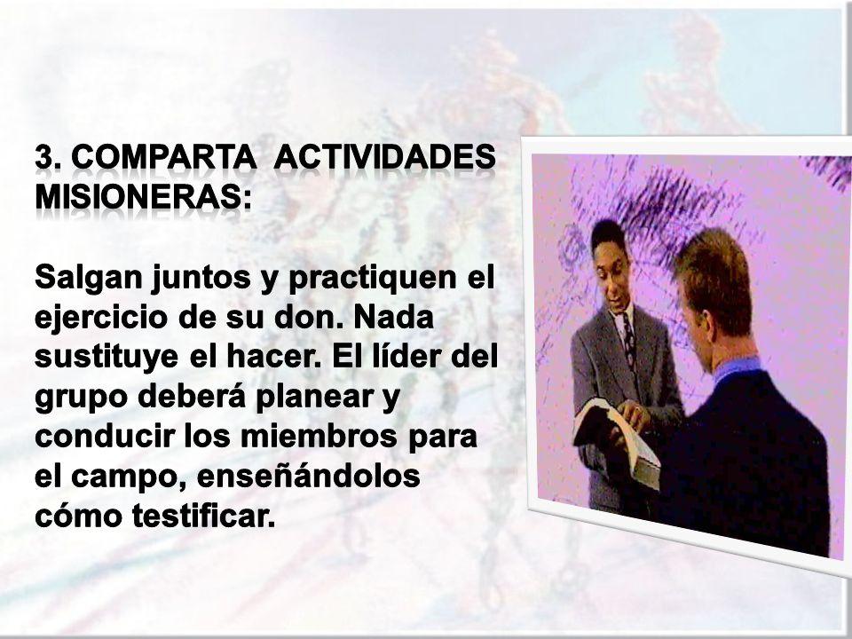 3. COMPARTA actividades misioneras: