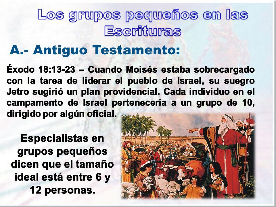 Los grupos pequeños en las Escrituras