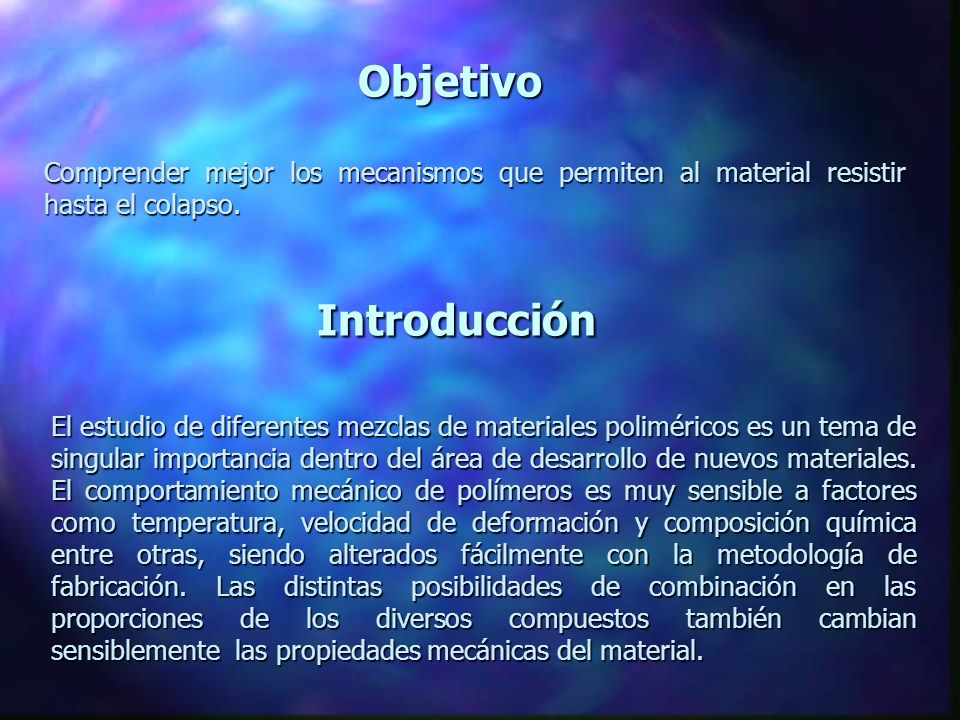 Introducción Objetivo