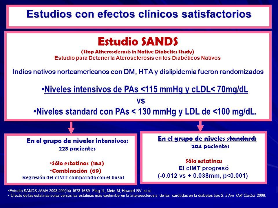 Estudio SANDS Estudios con efectos clínicos satisfactorios