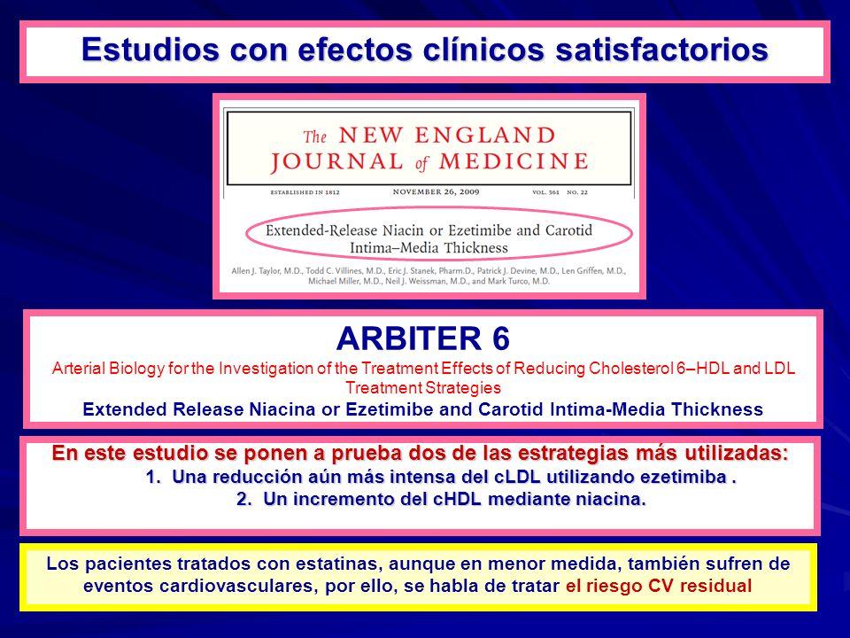 Estudios con efectos clínicos satisfactorios ARBITER 6