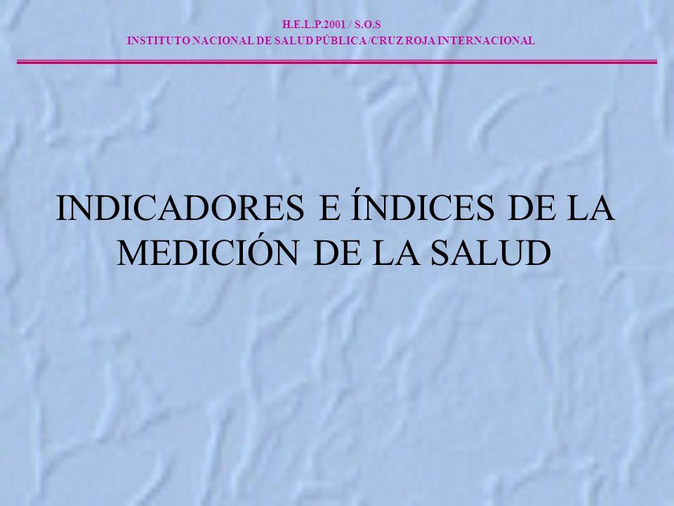 INSTITUTO NACIONAL DE SALUD PÚBLICA /CRUZ ROJA INTERNACIONAL