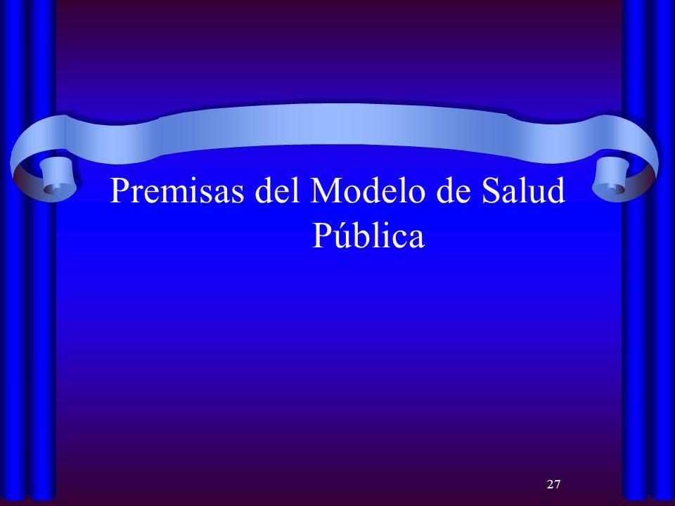 Premisas del Modelo de Salud Pública