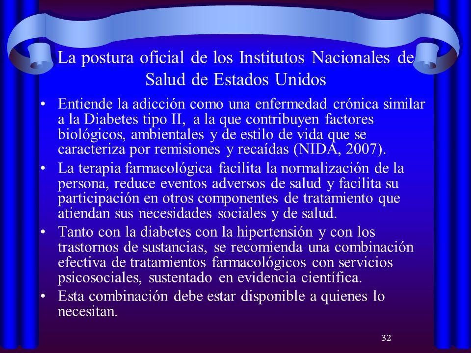 La postura oficial de los Institutos Nacionales de Salud de Estados Unidos