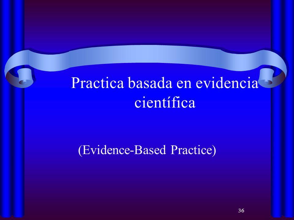 Practica basada en evidencia científica