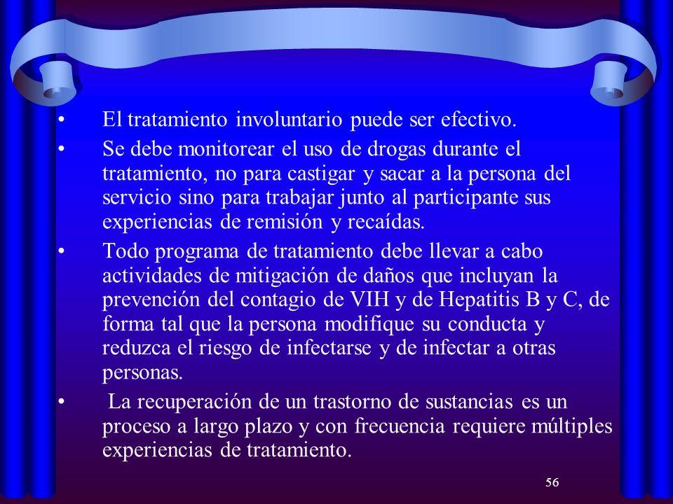 El tratamiento involuntario puede ser efectivo.