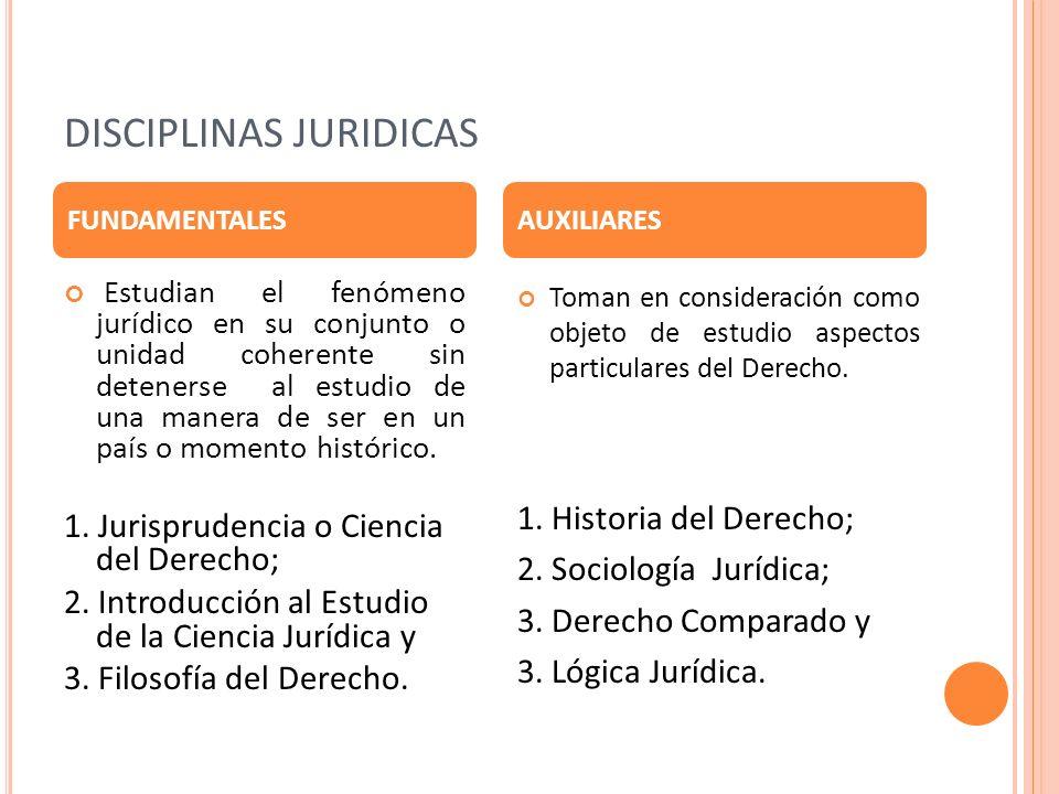 DISCIPLINAS JURIDICAS