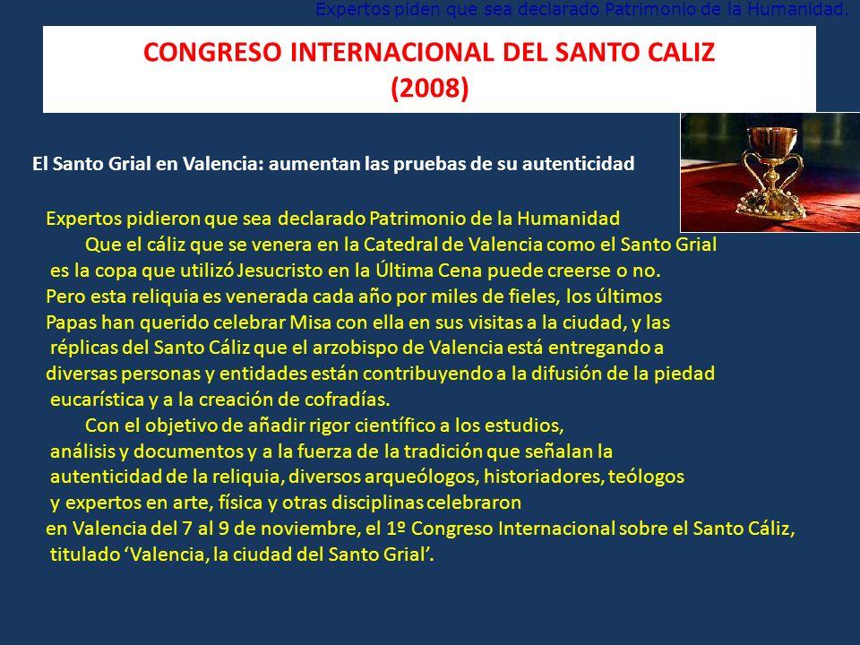 CONGRESO INTERNACIONAL DEL SANTO CALIZ (2008)