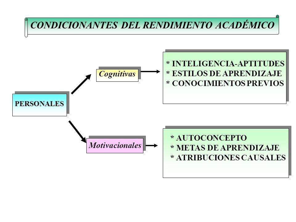 CONDICIONANTES DEL RENDIMIENTO ACADÉMICO