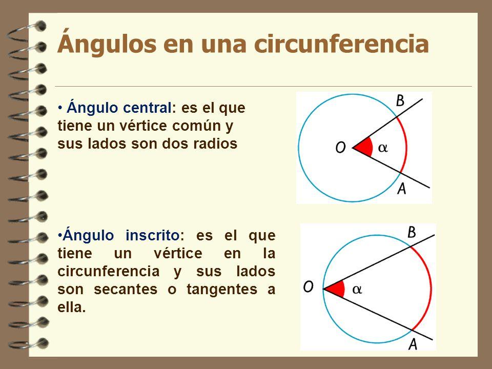 Ángulos en una circunferencia