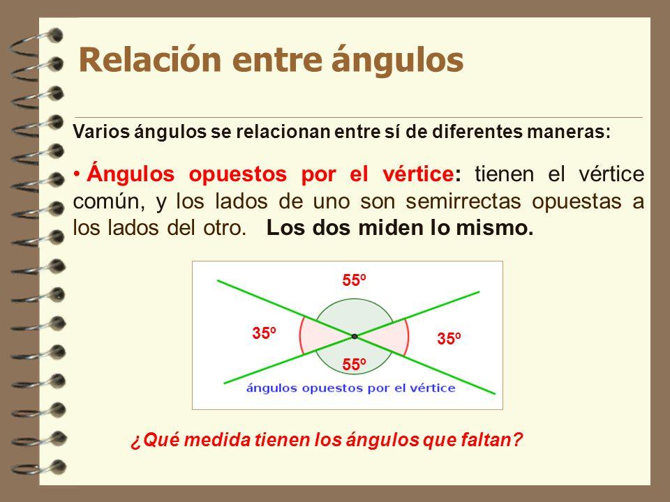 Relación entre ángulos
