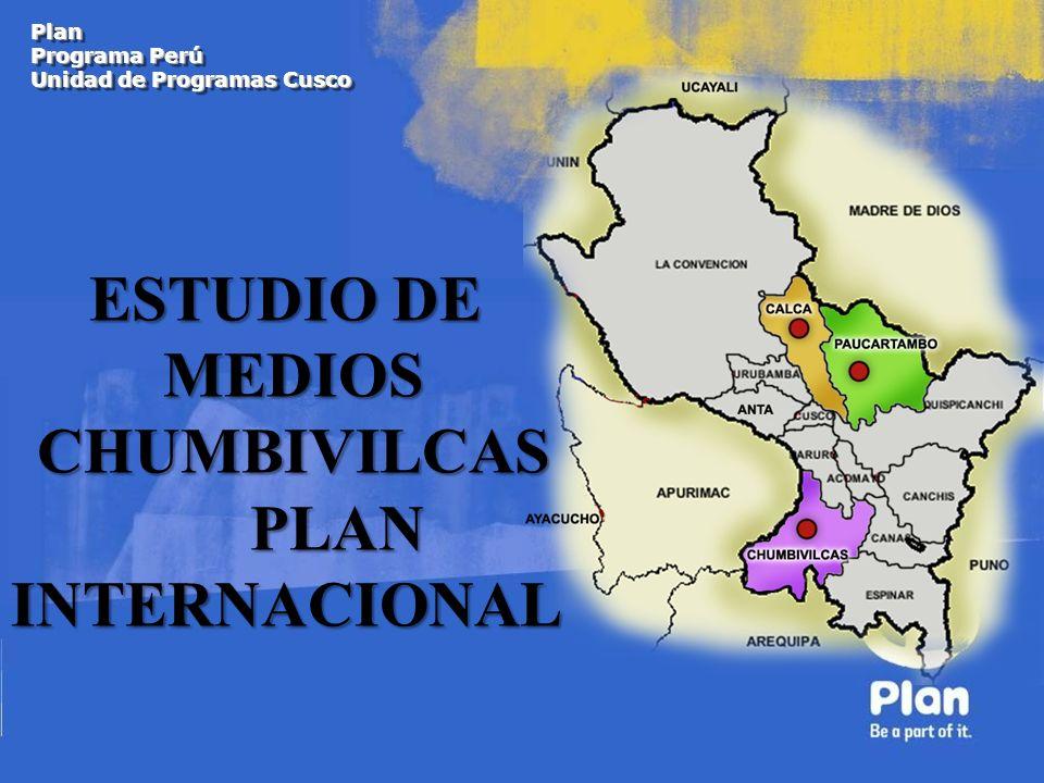 ESTUDIO DE MEDIOS CHUMBIVILCAS PLAN INTERNACIONAL