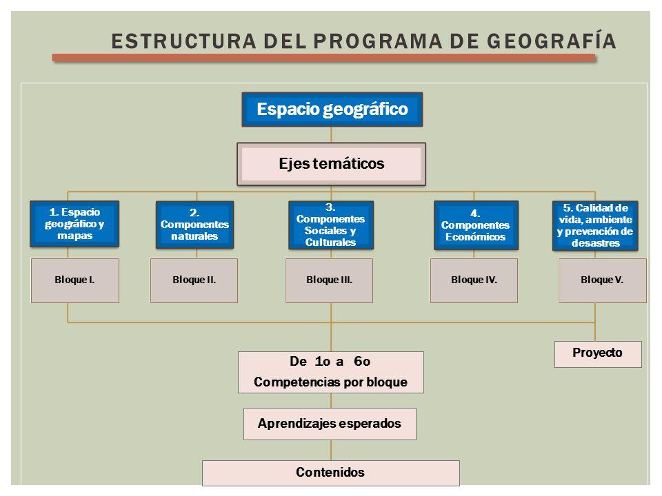 Estructura del programa de GEOGRAFÍA