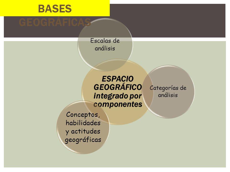 ESPACIO GEOGRÁFICO integrado por componentes