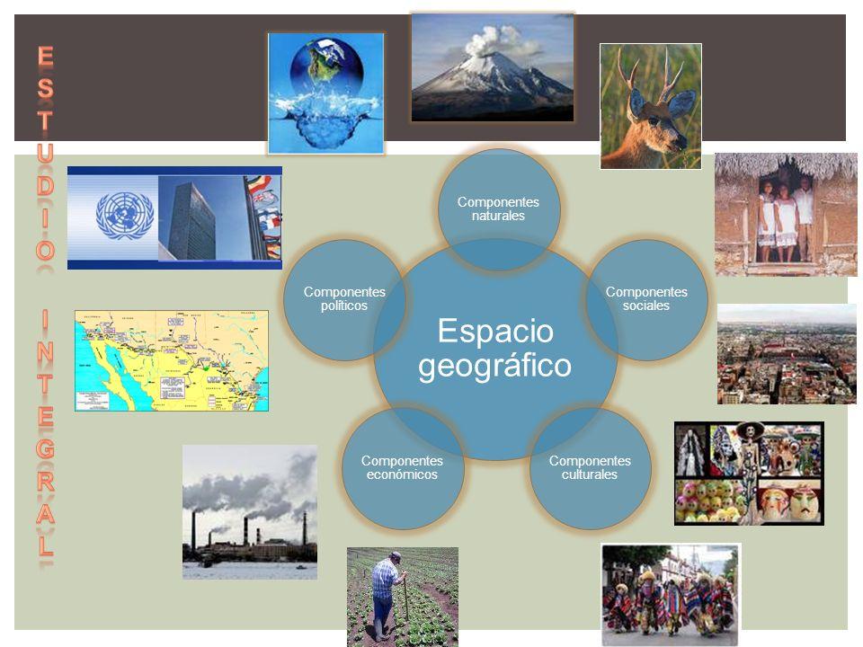 Espacio geográfico Estudio integral Componentes naturales
